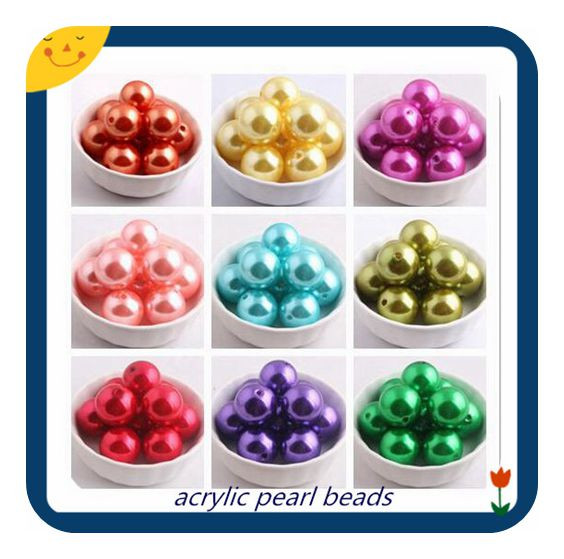 Mix Colorful Color Custom Acrylic Imitation Pearl Print Snowflake Beads for Bubble Chunky Necklace Jewelry 20mm