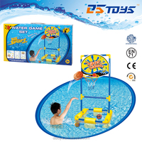 "water basketball game set w/1pc 4"" PVC ball, 2 pcs 3"" water ball and 6"" inflator"