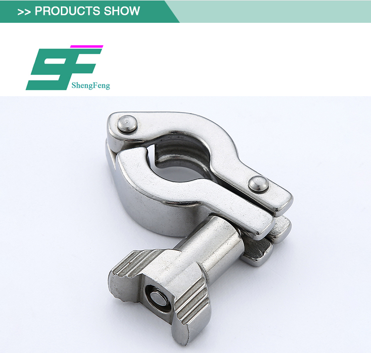 Professional manufacture stainless steel sanitary heavy duty clamp