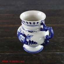 Delf ceramic blue and white stoneware water milk drink mug