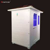 Infared dy sauna steam Outdoor bamboo sauna white house