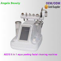 A0210 Must Have ! 6 in 1 vacuum water sucking BIO Ultrasonic RF facial cleaning machine