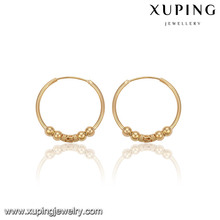 91494 Xuping Best Selling Fashion Indian Jewelry, Gold Hoop Earrings For Women