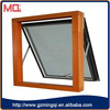 factory price aluminum double glass projecting top-hung window for house