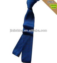 blue polyester mens' knit tie