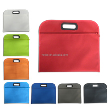 Simple 600D Polyester zippered Organizer document bag conference bag
