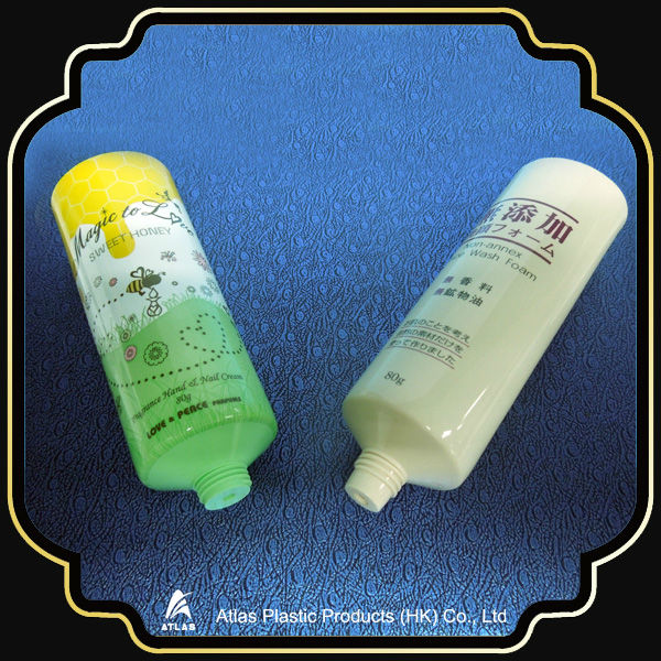 D40 80ml hand cream and face wash foam plastic cosmetic tube