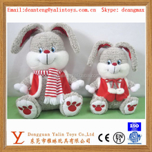 long ear plush stuffed rabbit toy,stuffed toy rabbit for christmas