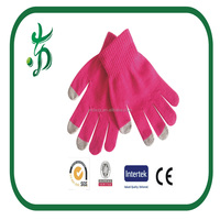 Ladies Knitted Driving Gloves Touch Screen solid Gloves Texting Capacitive Smartphone