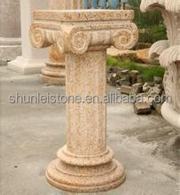 yellow granite roman column
