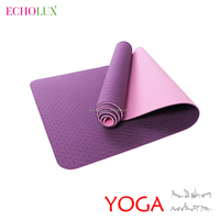 YGM011 Hot sales 6mm Premium TPE Yoga Mat with Carrying Strap Eco Friendly Fitness Exercise Mat