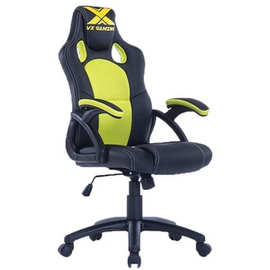 Nova adjustable colorful design office chair yellow massage pc computer racing chair/gaming chair