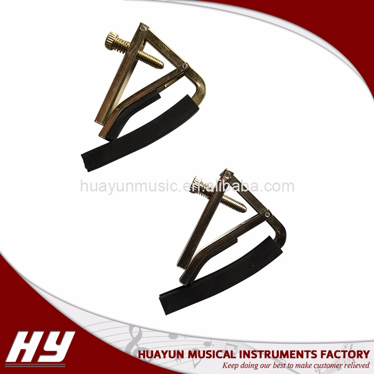 Light and stable metal guitar capo for acoustic electric guitar