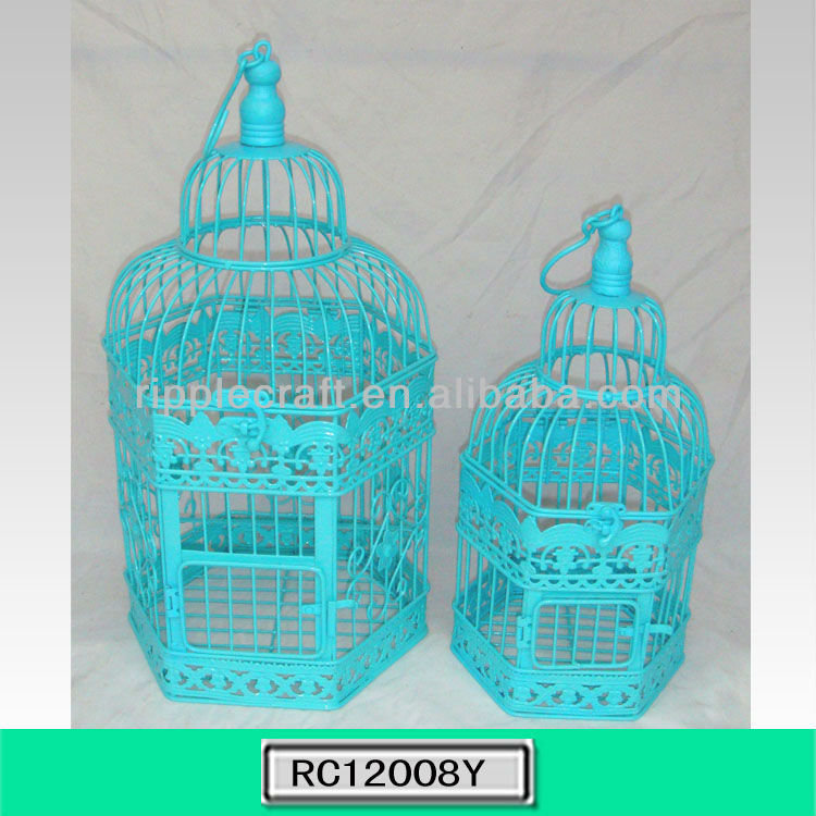 Fashionable Large Simple Metal Bird Carrier