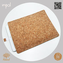 2013 new natural cork leather custom made leather design cover sleeve for ipad 3 with strap