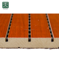Sound Absorption Grooved Wooden Acoustic Ceiling And Wall Panel For Stadium