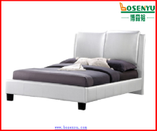 Pictures of wood double bed,white color bed,white leather bed sets