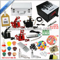 hot sale permanent professional top high quality glitter makeup tattoo machine kit for 4 guns,rotary machine kit&piercing kits