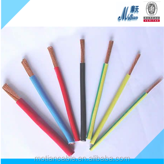 Copper used make Electrical wire size competitvie price electrical wires