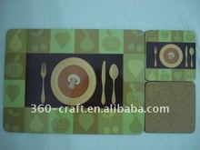 MDF coaster withcork,wooden MDF coaster with cork,paper MDF coaster with cork