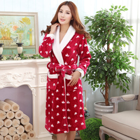 Ladies' Super Soft Fleece Robe, Hooded Bath Robe, Dressing Gown