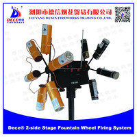 Dece 2-side Stage Fountain Wheels Cold Fireworks firing system