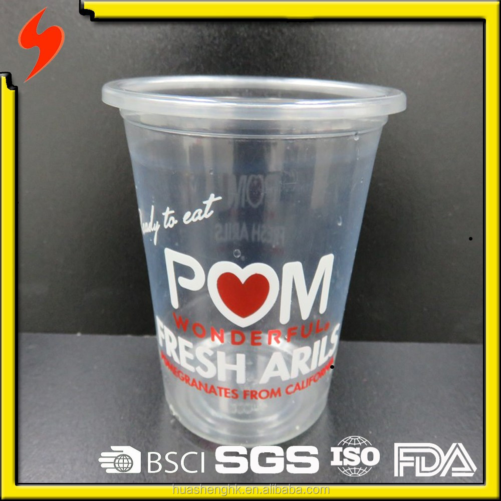 New Product PET Material and Cup Type Plastic 8oz Sorbet Tumbler with Lids