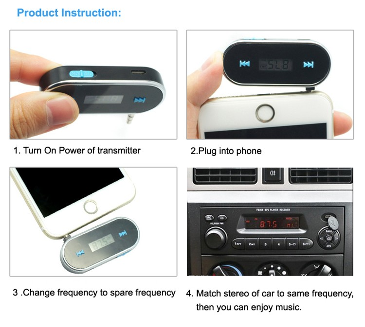 GXYKIT HD display window car radio mp3 fm am transmitter equipment for car and truck both