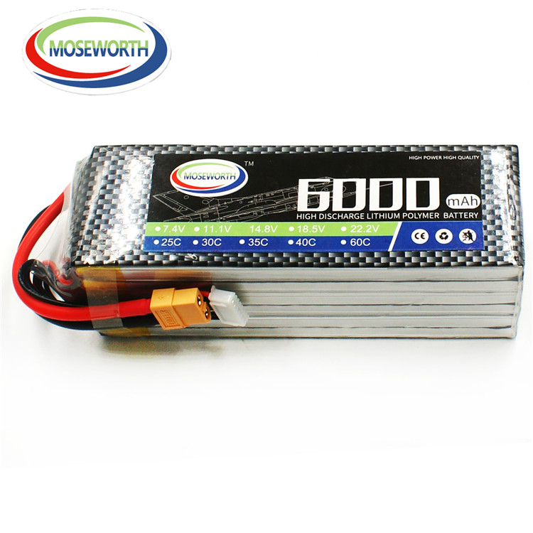 wholesale 6s lipo battery 22.2v 6000mah 40c for RC Helicopter Airplane/UAV