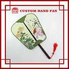 Chinese Tradition Royal Silk Like Hand Held Fan for Wedding Invitation TS101-2
