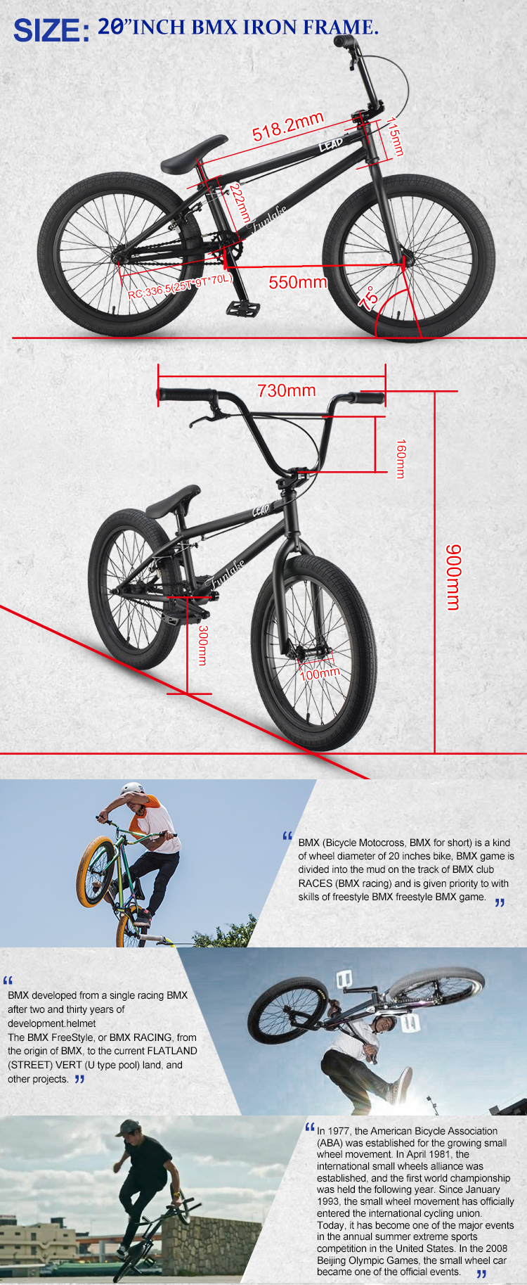 Factory manufacturer OEM ODM 18 inch bmx tyre 20'' flatland street all kind of price bicycle custom freestyle bikes bmx bike