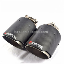 New style Akrapovic Carbon Fiber 304 stainless Steel Exhaust tip, exhaust tail pipe