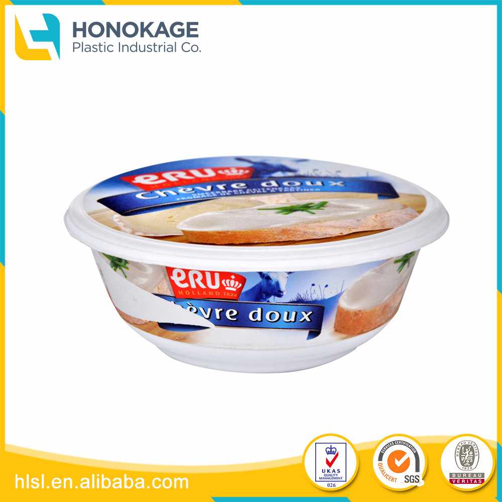 Injection Butter Package Small Food Container Food Packaging Plastic Cup with Lid,Cheese Custom Clear Box