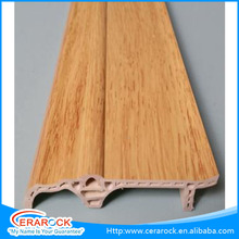 waterproof wooden outdoor pvc plastic composite skirting board