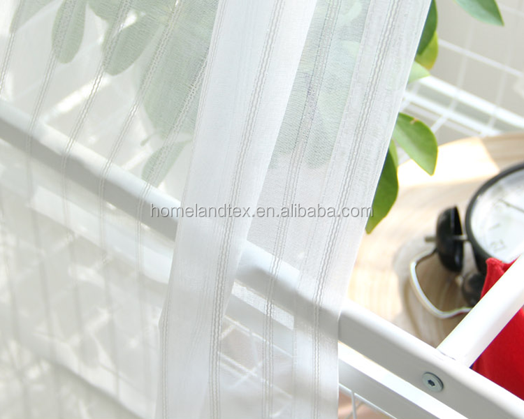 High quality Wholesale Living room sheer voile window curtains kitchen window curtains door curtain