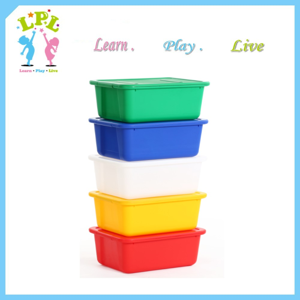Harmless multi-function stackable neatly contain plastic toy storage box