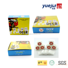 2017 Hot sale high quality Deer Brand 1/4OZ 96% Pure Camphor Tablets/Blocks