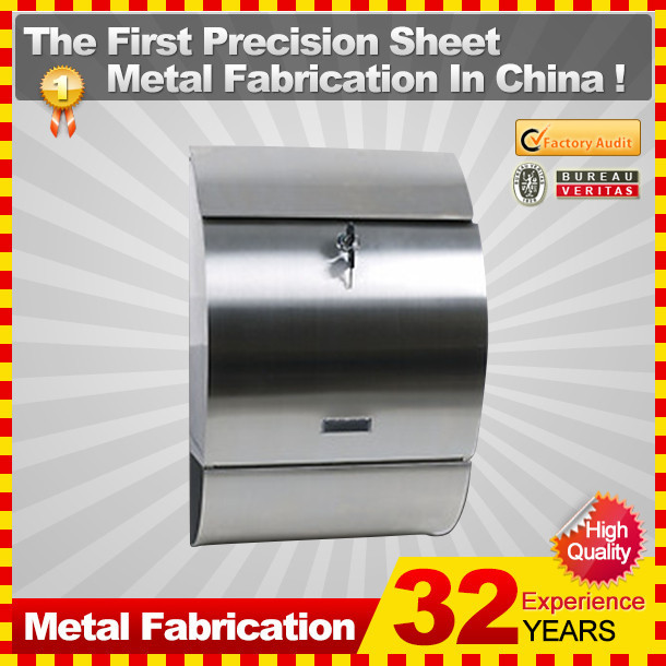 wall mount stainless steel outdoor mailbox