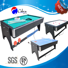 KBL-B1204 4 in 1 Folding Pool Table,dinner table,ping pong table,hockey table,7ft foldable pool table and hockey table game