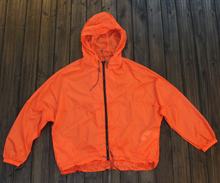 waterproof bomber jacket orange custom plain rain coat jacket hooded
