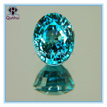Charming sapphire blue oval shaped cubic zirconia