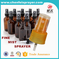 Custom plastic fine mist sprayer for perfume sprayer bottle in yellow for glass bottle sprayer pump 14/410 18/410 18/415