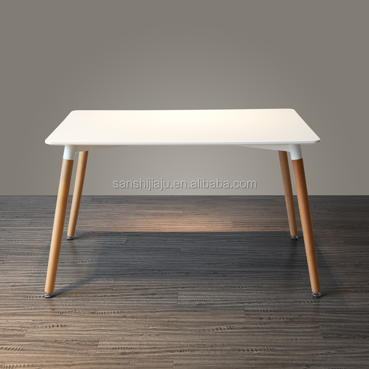 Hot Sell Dining Table With Wooden Legs dining MDF table