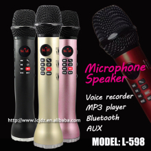 L-598 portable cell phone speaker and microphone for karaoke singsing