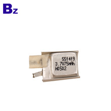 Customized Special BZ 551419 3.7V 75mAh Lithium-ion Polymer Battery