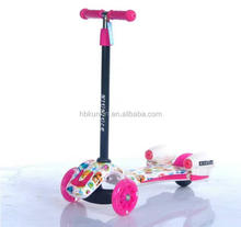 China factory price 3 wheel handbrake kids kick scooter / cheap kids scooters for sale