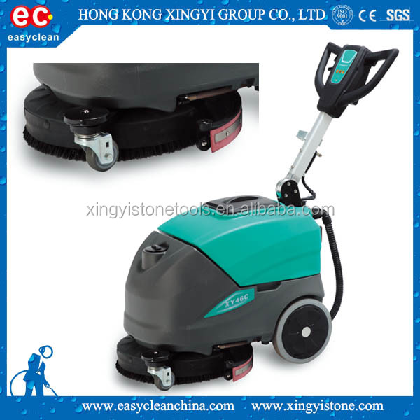 Pushing type rechargeable compact floor scrubber/ floor cleaning machine