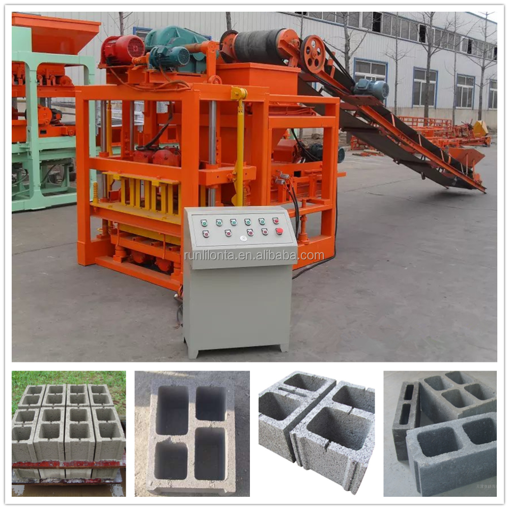 Building Material Machinery QTJ4-26c used concrete block making machine for sale