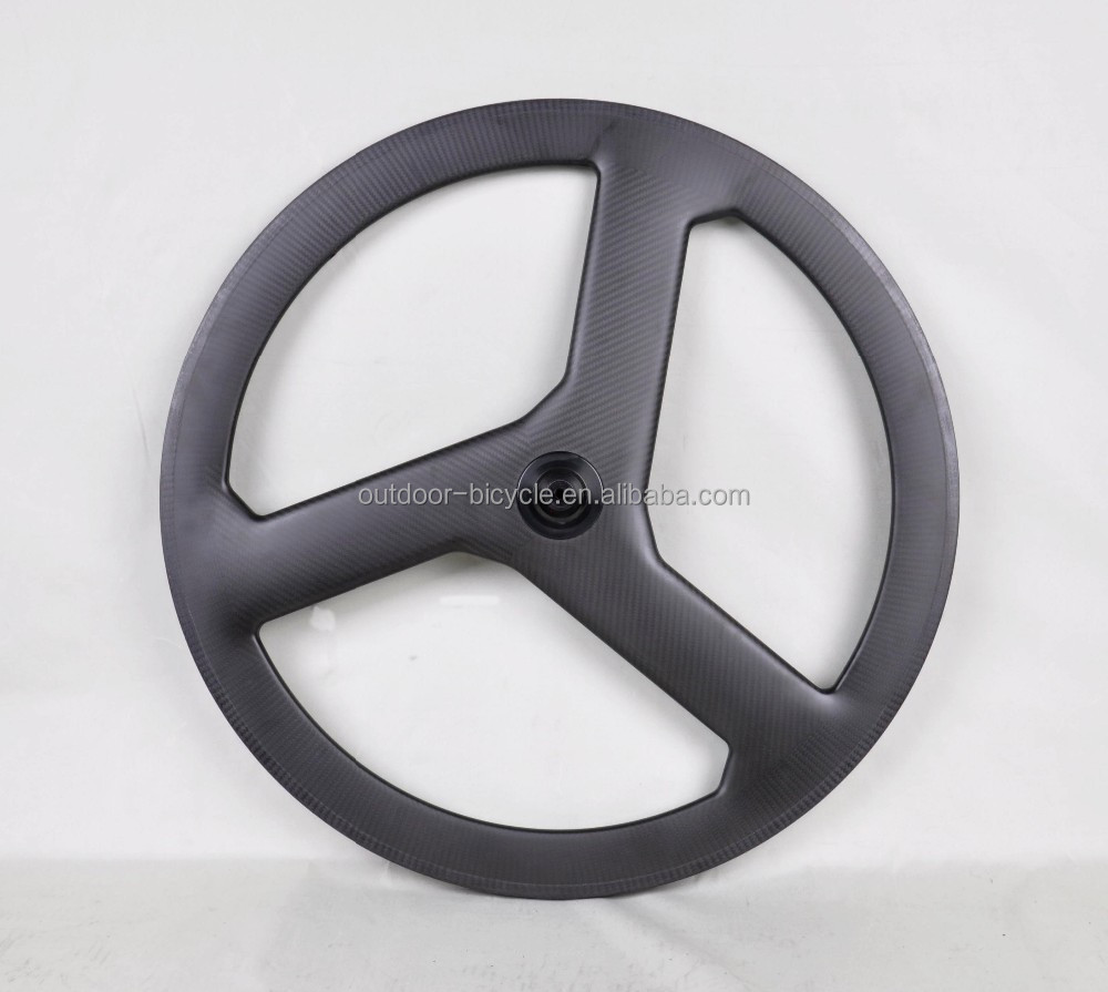 Fast shipping!!! 100% carbon 3 spoke bike wheel 700c /tri-spoke wheels