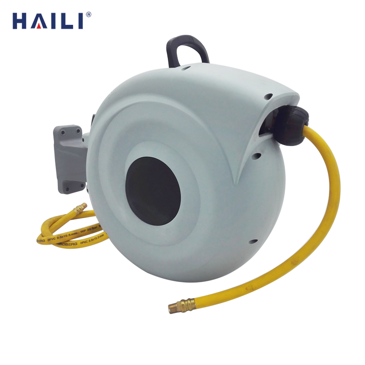 50ft wall mounted automatic retractable air hose reals